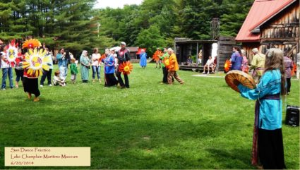 Abenaki participate in traditional Sun Dance practice