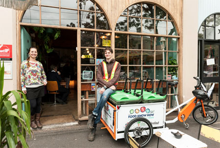 Kaylin and Food Know How community composting program cargo cycle volunteer