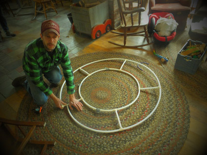Building out the PVC ring