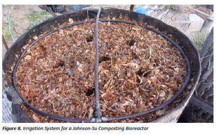 figure 8. Irrigation system for a Johnson-Su composting bioreactor