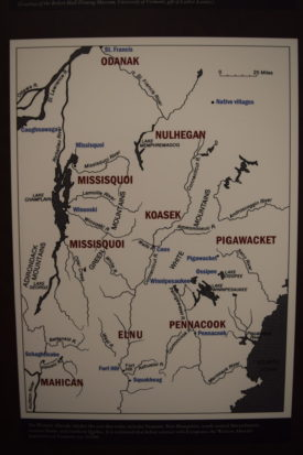 Map of the tribes and land of the Wabanaki Confederacy