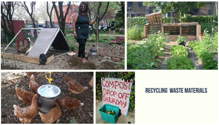 photo courtesy Yonnette Fleming Recycling waste, be it manure, garden clippings, or neighborhood kitchen waste is an fundamental principle for the Garden, as well as an important source of fertility.
