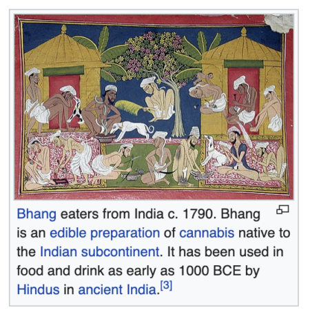 Bhang eaters from India c. 1790