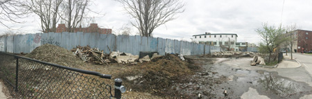The larger of the two plots on South Street, before being cleaned up